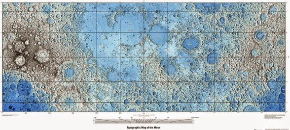 NASA publica los verdaderos mapas completos de la Luna. Ra StationClub